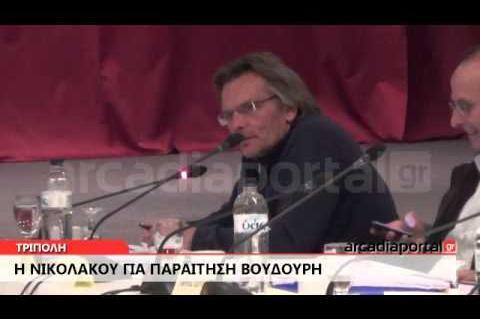 ArcadiaPortal.gr Νικολάκου για παραίτηση Βουδούρη